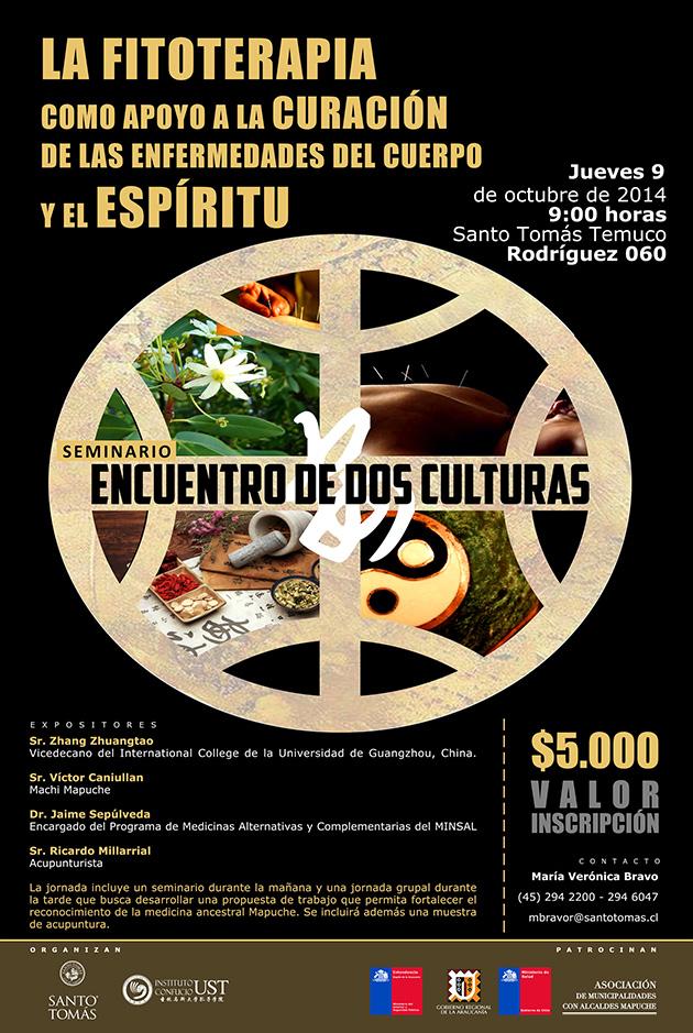 Afiche Seminario Encuentro de dos culturas