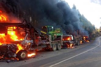camiones quemados Lumaco